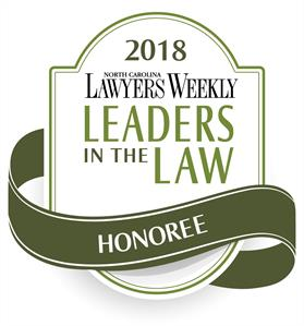 2018 North Carolina Lawyers Weekly Leaders in the Law Honoree